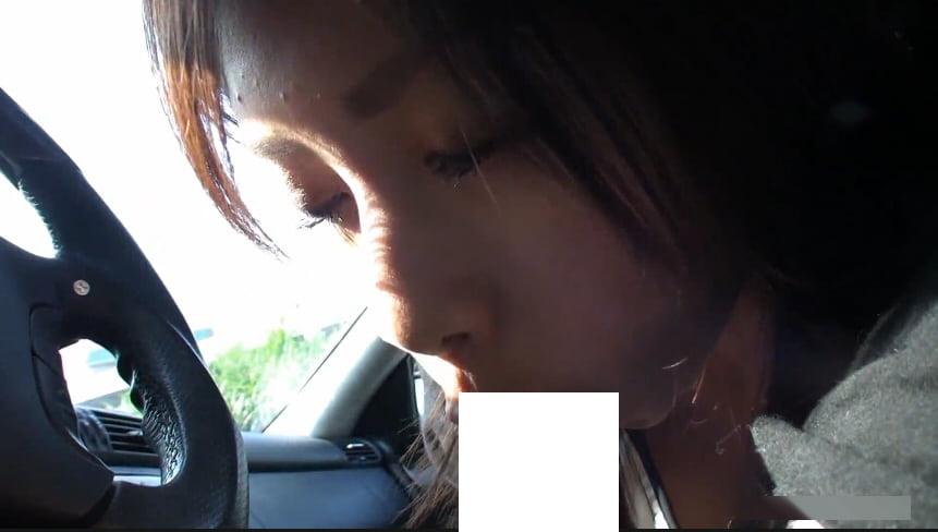 美人彼女といちゃいちゃドライブデートからの車内フェラ